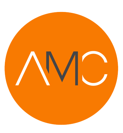 AMC initials in orange circle