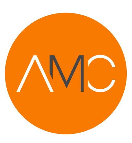 AMC initials in orange circle