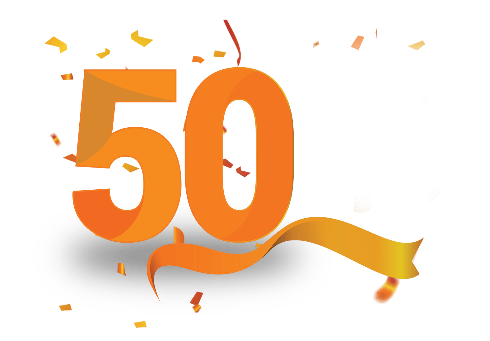 50 years AMC logo